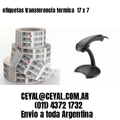 etiquetas transferencia termica  17 x 7
