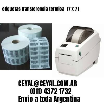 etiquetas transferencia termica  17 x 71