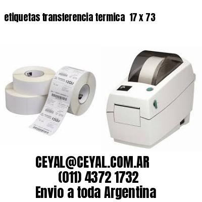 etiquetas transferencia termica  17 x 73