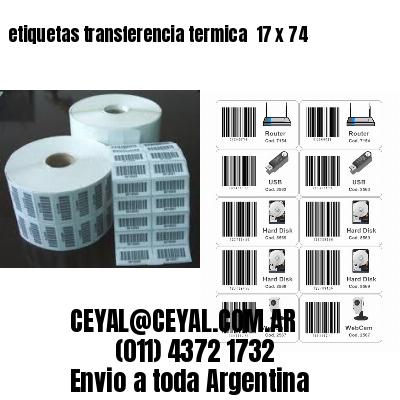 etiquetas transferencia termica  17 x 74