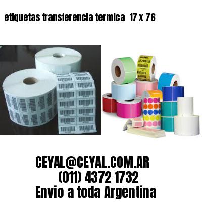 etiquetas transferencia termica  17 x 76