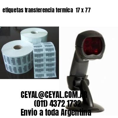 etiquetas transferencia termica  17 x 77