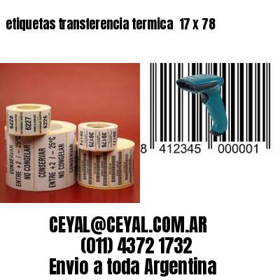 etiquetas transferencia termica  17 x 78