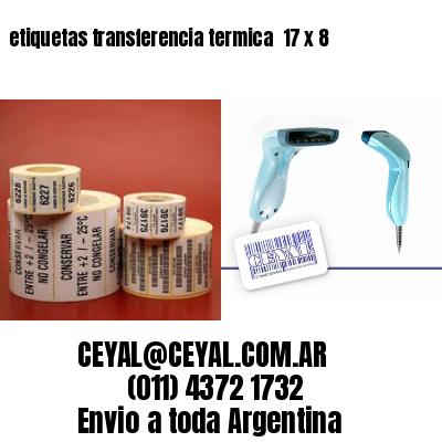 etiquetas transferencia termica  17 x 8