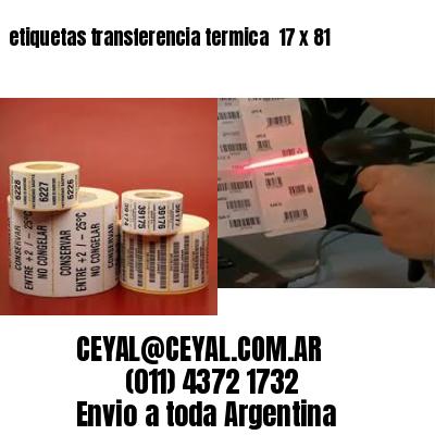 etiquetas transferencia termica  17 x 81