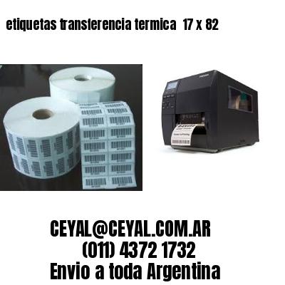 etiquetas transferencia termica  17 x 82