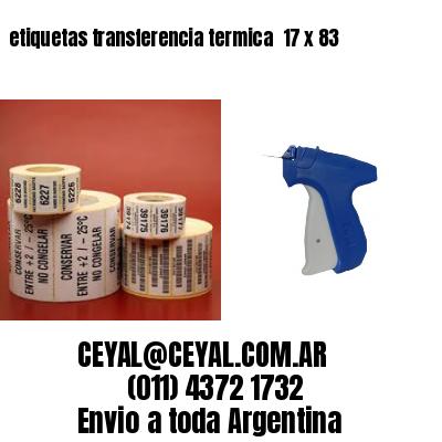 etiquetas transferencia termica  17 x 83