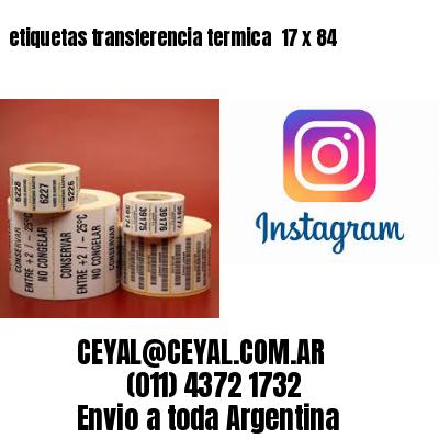 etiquetas transferencia termica  17 x 84