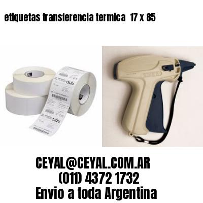 etiquetas transferencia termica  17 x 85