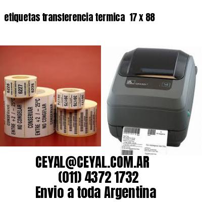 etiquetas transferencia termica  17 x 88