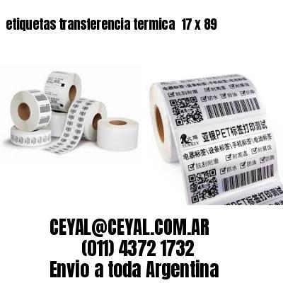 etiquetas transferencia termica  17 x 89