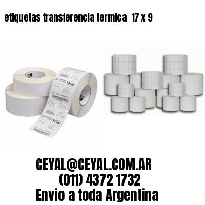 etiquetas transferencia termica  17 x 9