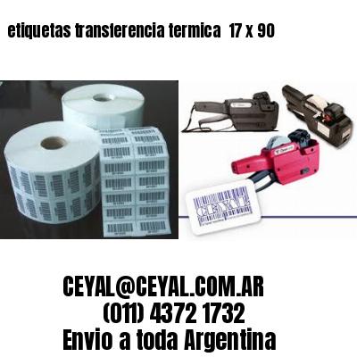 etiquetas transferencia termica  17 x 90