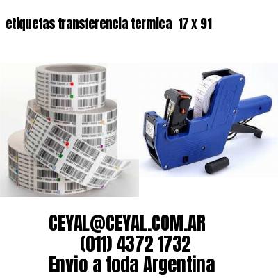 etiquetas transferencia termica  17 x 91