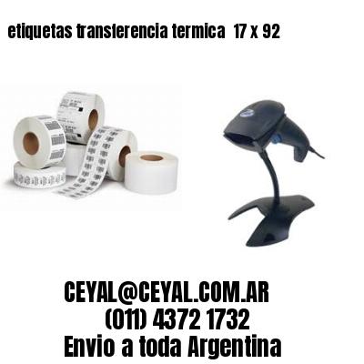 etiquetas transferencia termica  17 x 92