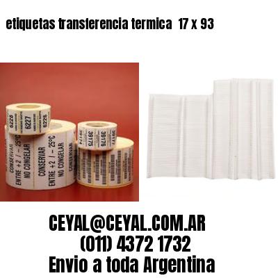 etiquetas transferencia termica  17 x 93