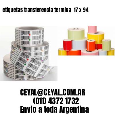 etiquetas transferencia termica  17 x 94
