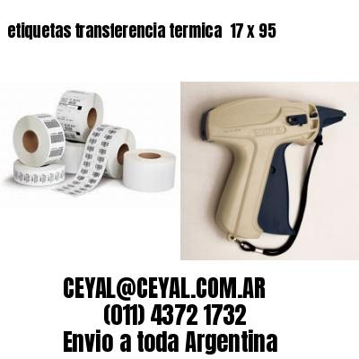 etiquetas transferencia termica  17 x 95