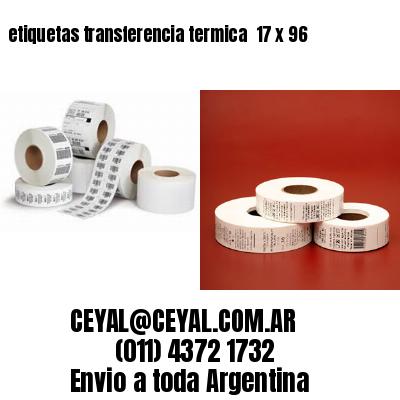 etiquetas transferencia termica  17 x 96