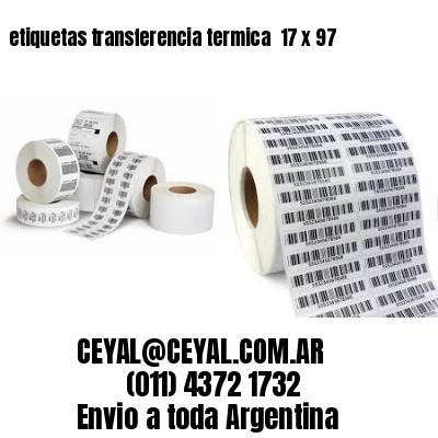 etiquetas transferencia termica  17 x 97