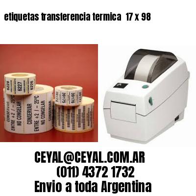 etiquetas transferencia termica  17 x 98