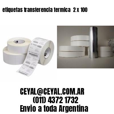 etiquetas transferencia termica  2 x 100