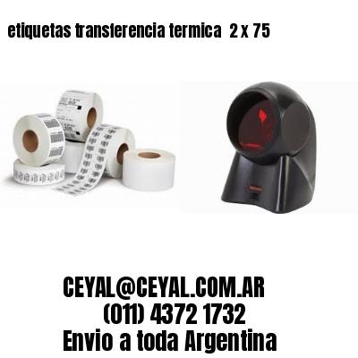 etiquetas transferencia termica  2 x 75