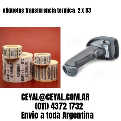etiquetas transferencia termica  2 x 83
