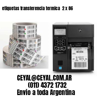 etiquetas transferencia termica  2 x 86