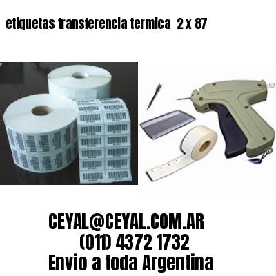etiquetas transferencia termica  2 x 87