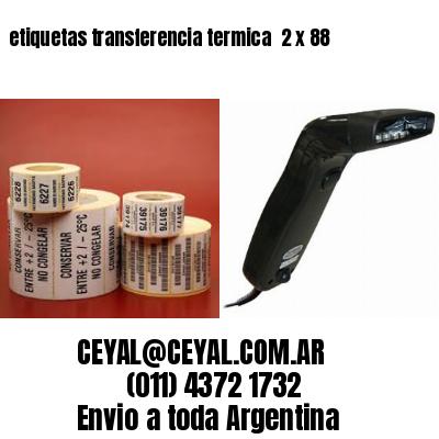 etiquetas transferencia termica  2 x 88