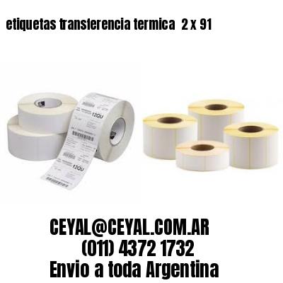 etiquetas transferencia termica  2 x 91