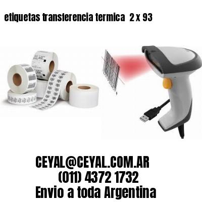 etiquetas transferencia termica  2 x 93