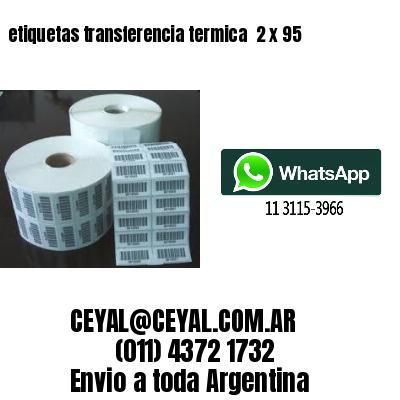 etiquetas transferencia termica  2 x 95