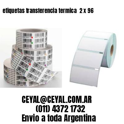 etiquetas transferencia termica  2 x 96
