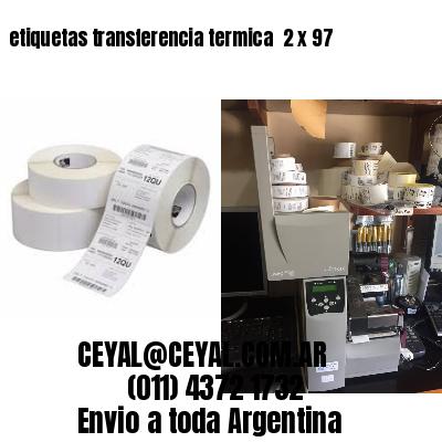 etiquetas transferencia termica  2 x 97