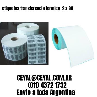 etiquetas transferencia termica  2 x 98