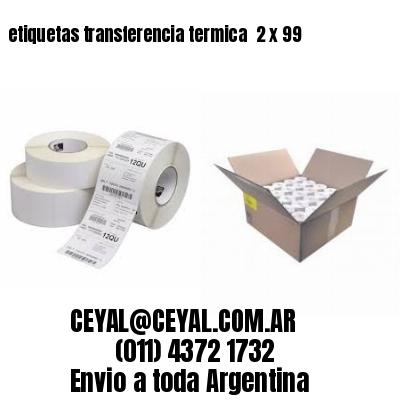 etiquetas transferencia termica  2 x 99