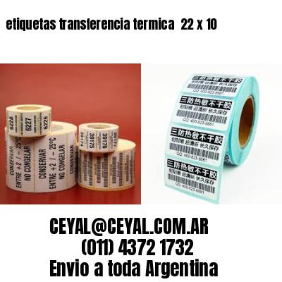 etiquetas transferencia termica  22 x 10