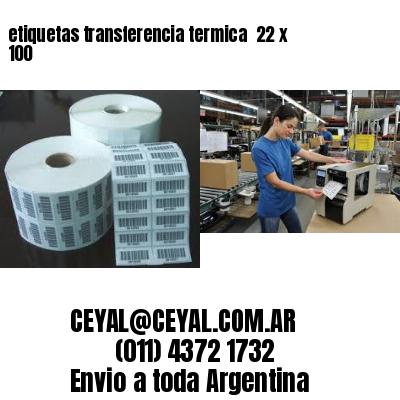 etiquetas transferencia termica  22 x 100