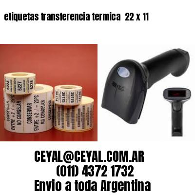 etiquetas transferencia termica  22 x 11