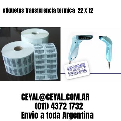 etiquetas transferencia termica  22 x 12