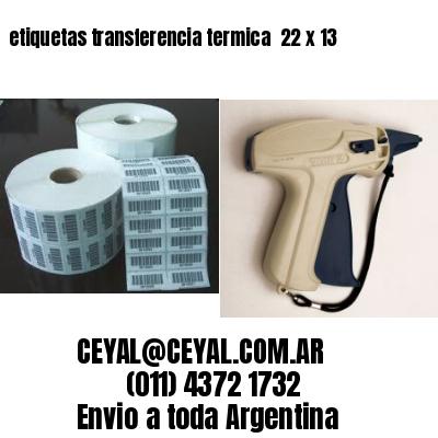 etiquetas transferencia termica  22 x 13