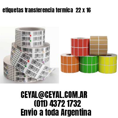 etiquetas transferencia termica  22 x 16