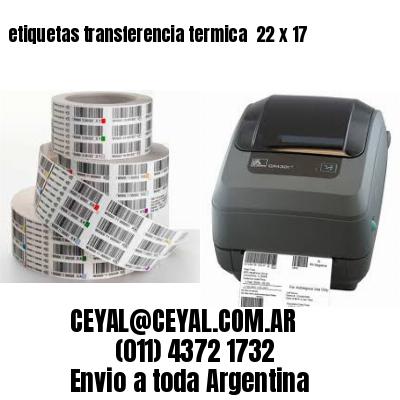 etiquetas transferencia termica  22 x 17