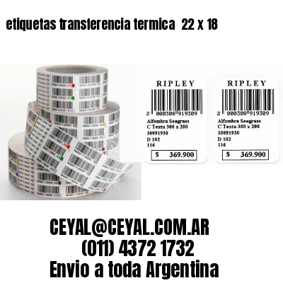 etiquetas transferencia termica  22 x 18