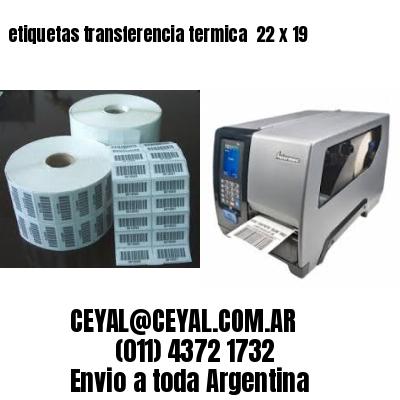etiquetas transferencia termica  22 x 19