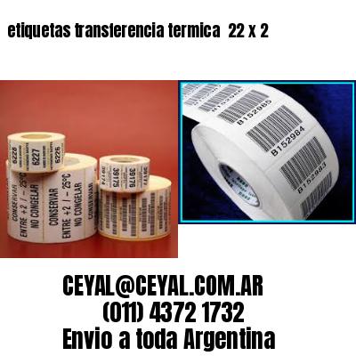 etiquetas transferencia termica  22 x 2