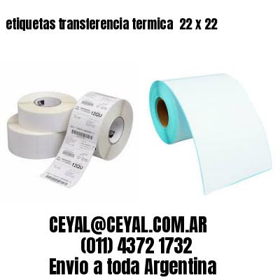 etiquetas transferencia termica  22 x 22