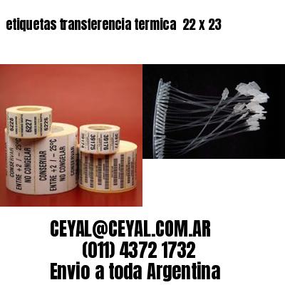 etiquetas transferencia termica  22 x 23